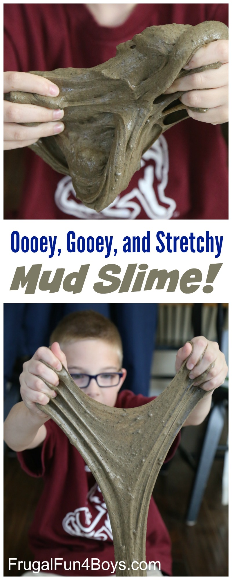 How to make oooey gooey stretchy mud slime frugal fun for boys how to make oooey gooey and stretchy mud slime ccuart Choice Image
