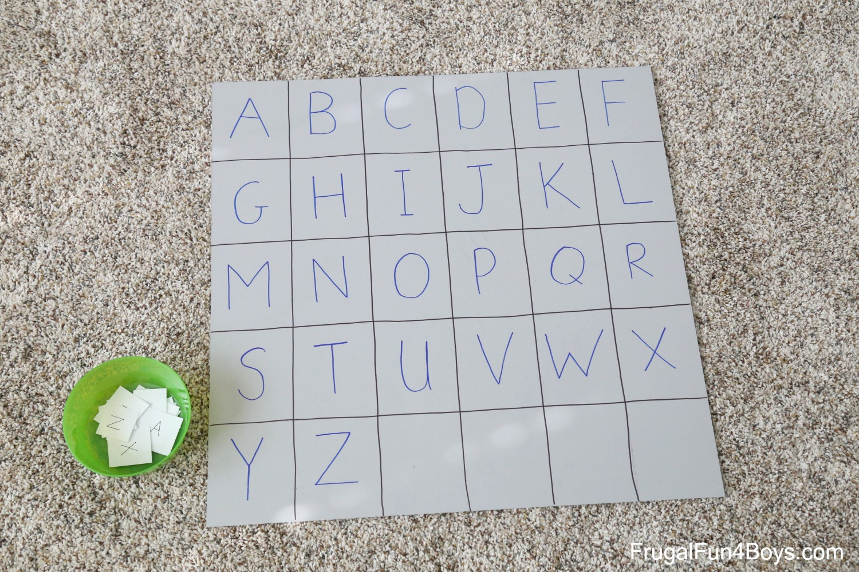 Four Simple Alphabet Games