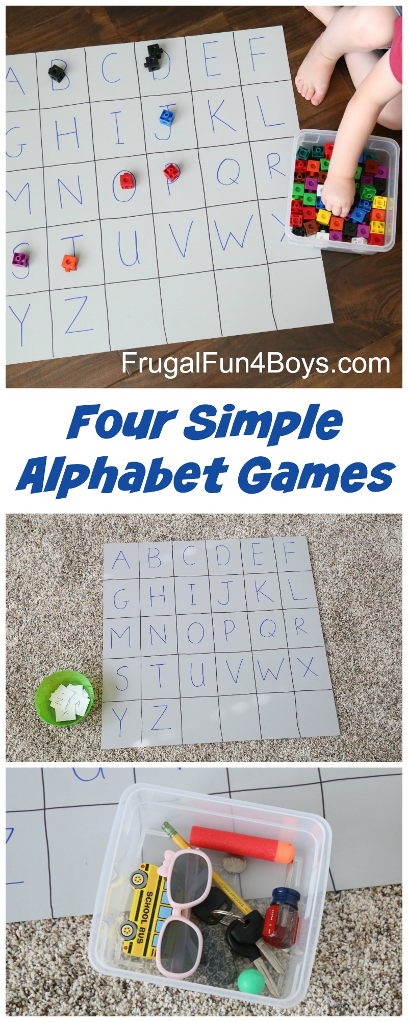 Four Simple Alphabet Games for Preschoolers to Learn the Letters
