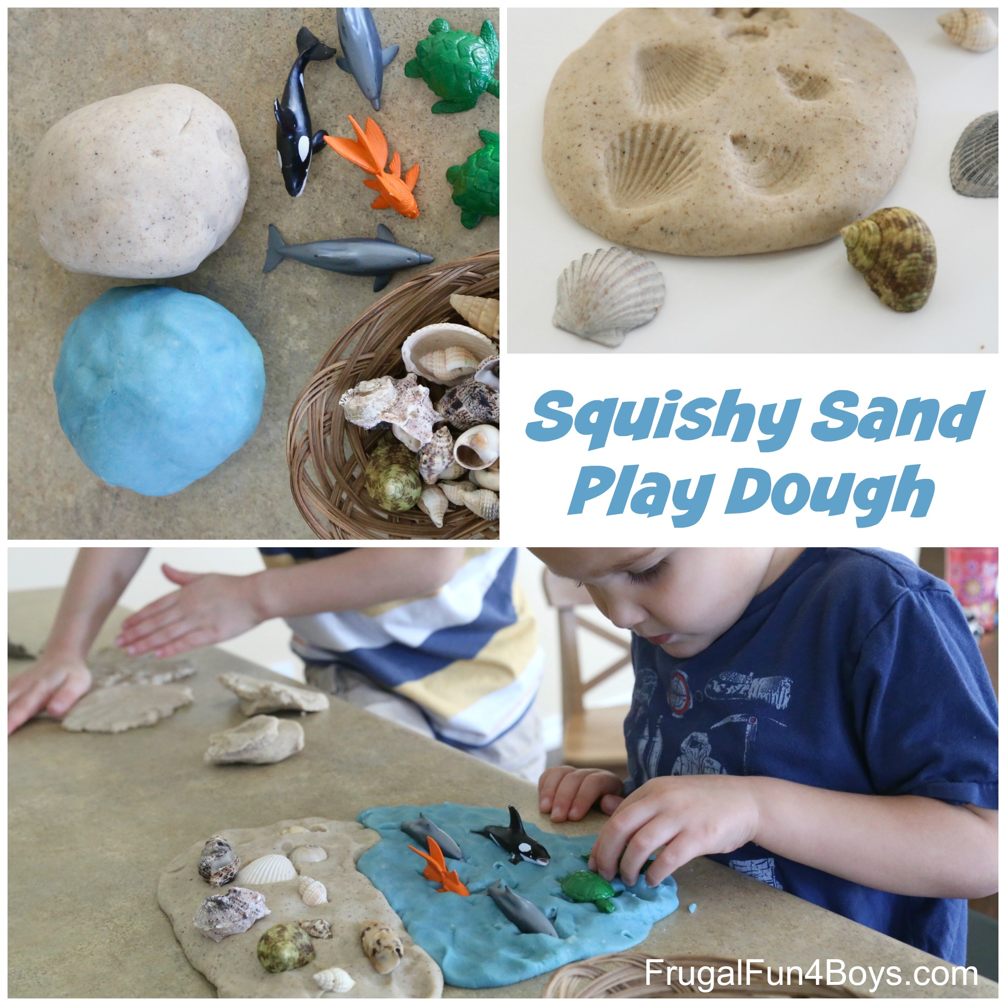 how to make squishy sand play dough