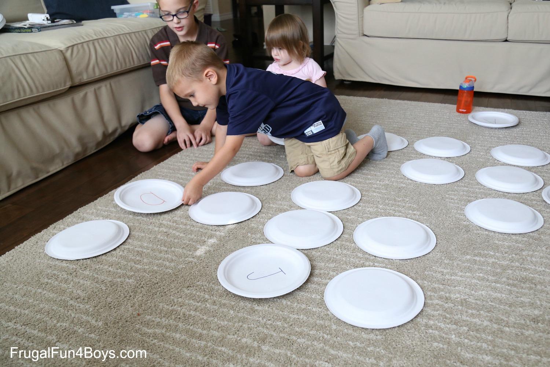 BIG Alphabet Memory Game  sc 1 st  Frugal Fun for Boys & Paper Plate BIG Alphabet Memory Game