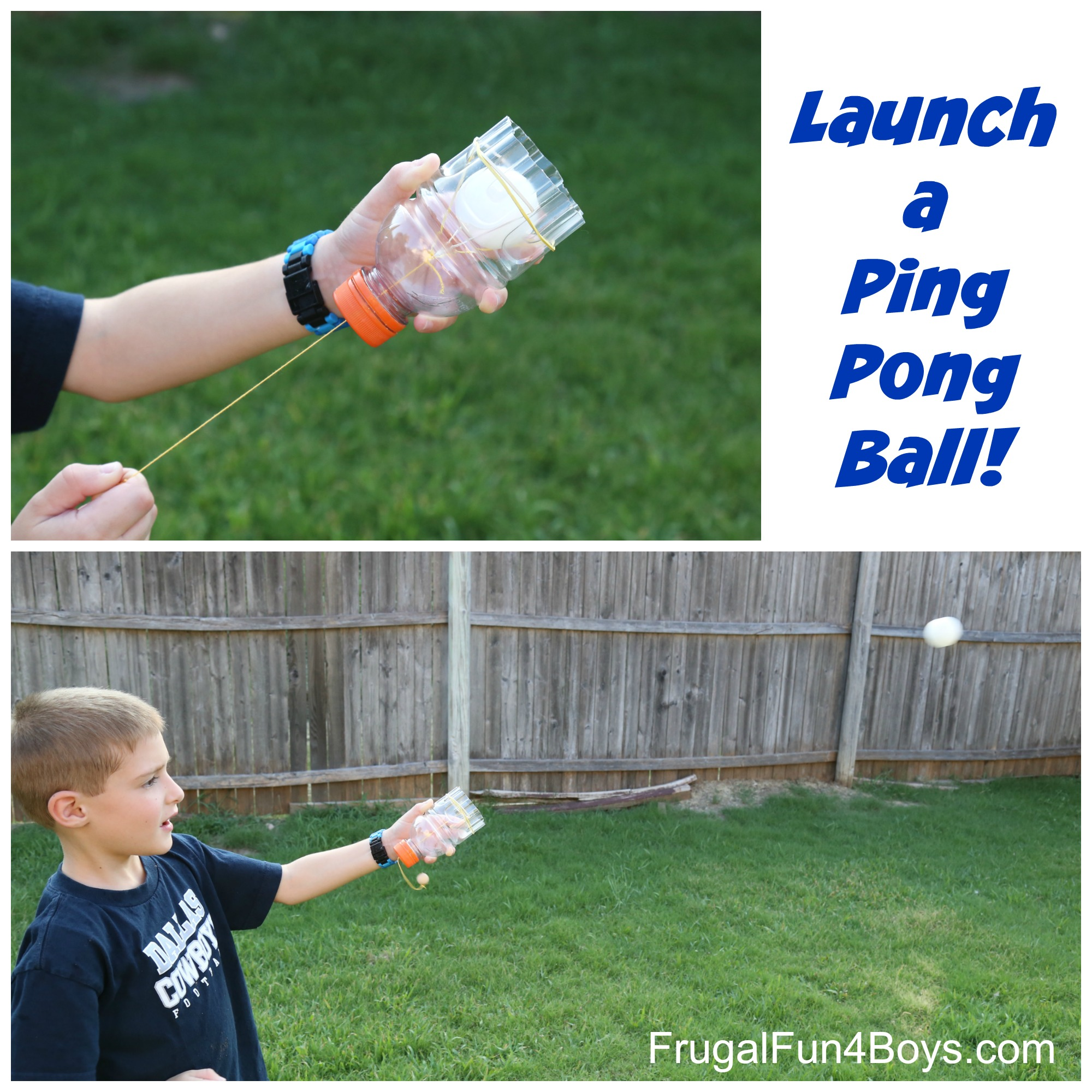 Launch a Ping Pong Ball! Make a homemade shooter out of a plastic bottle.