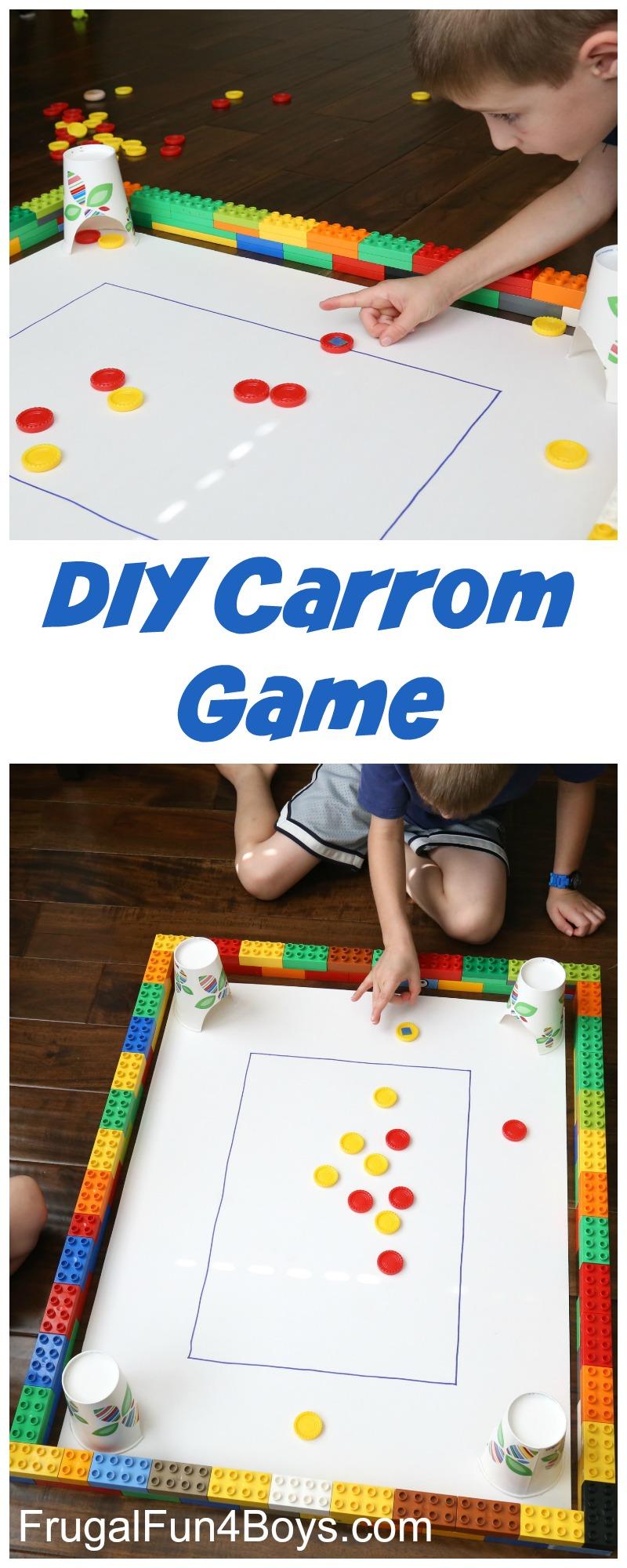 Homemade Carrom Game for Kids