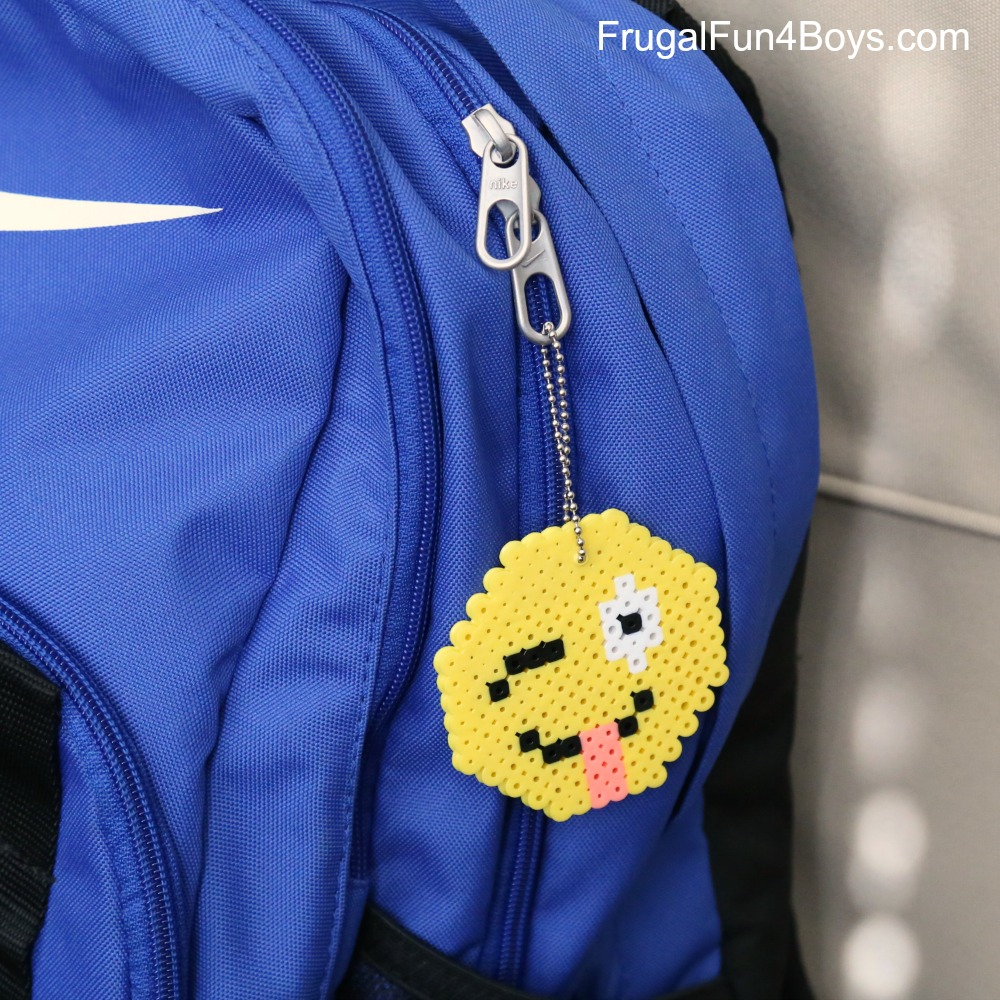 Emoji Perler Bead Keychain Craft