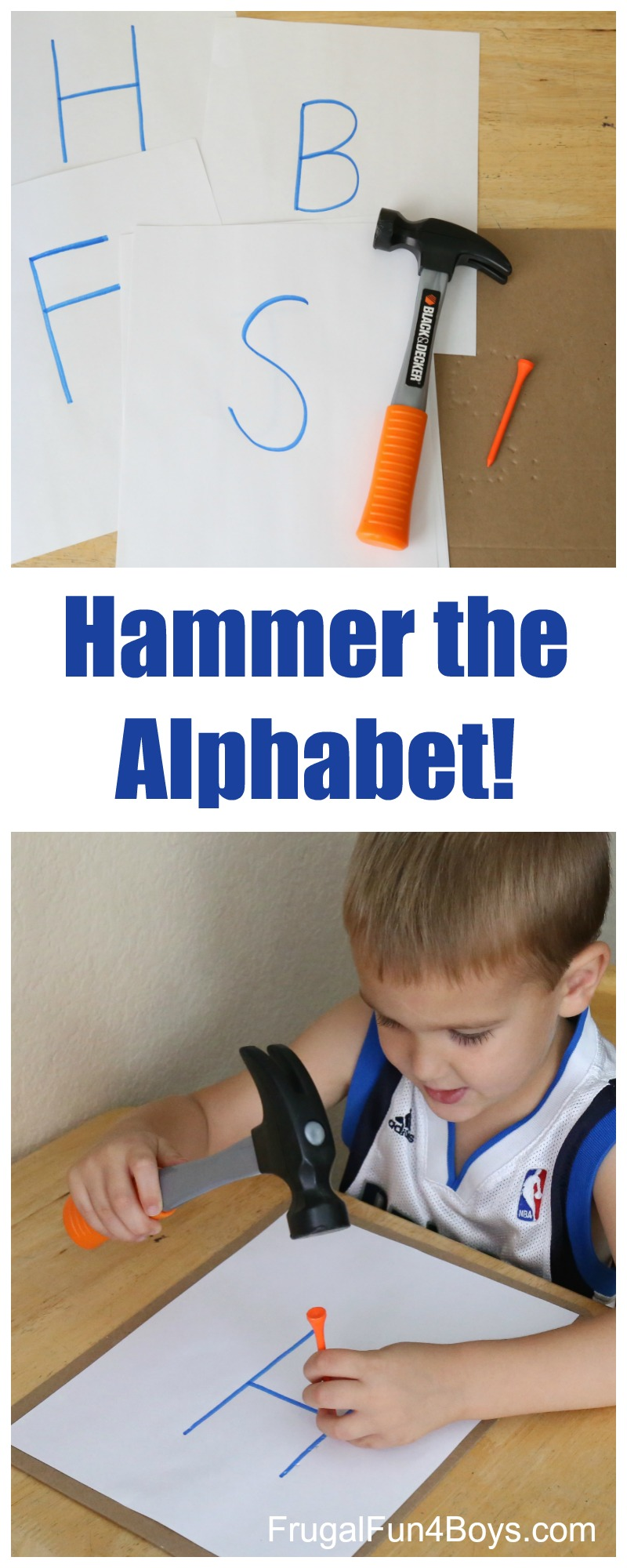 Hammer the Alphabet!  Preschool Letter Learning Activity