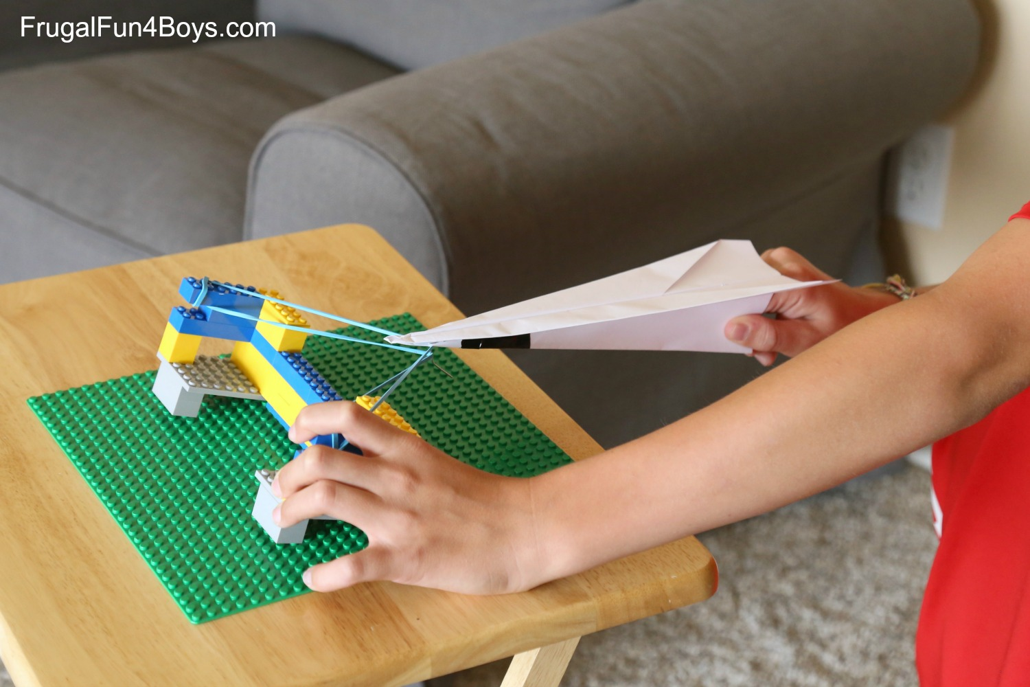 Ways To Build A LEGO Paper Airplane Launcher - Box paper airplane