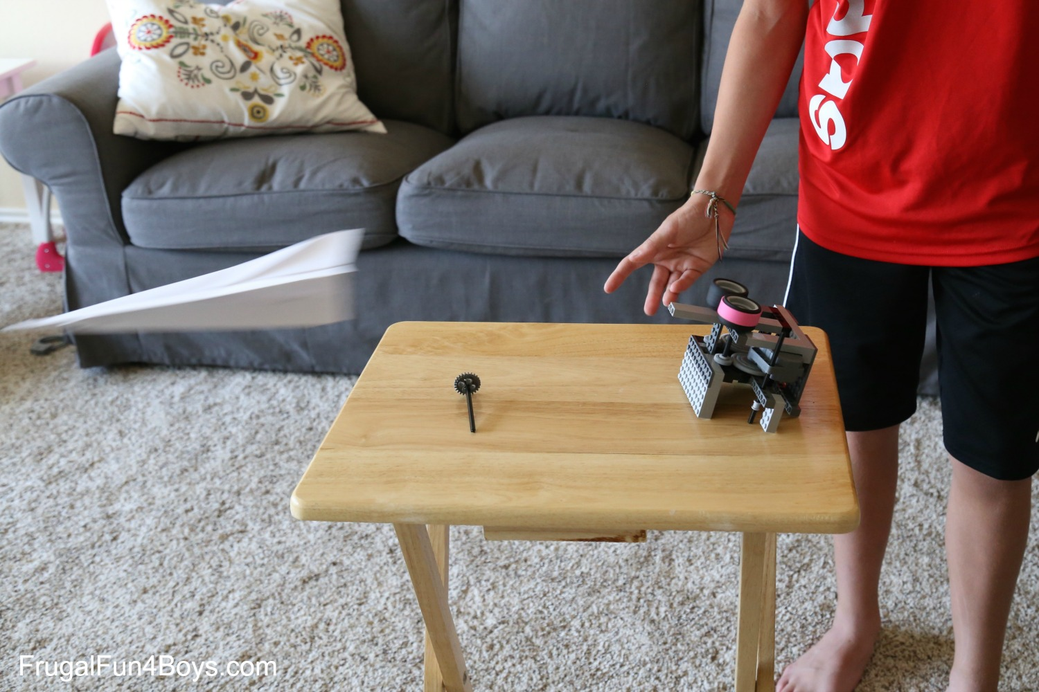 Two Ways to Build a LEGO Paper Airplane Launcher
