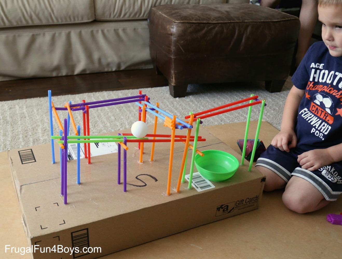 STEM Challenge for Kids: Build a Straw Coaster
