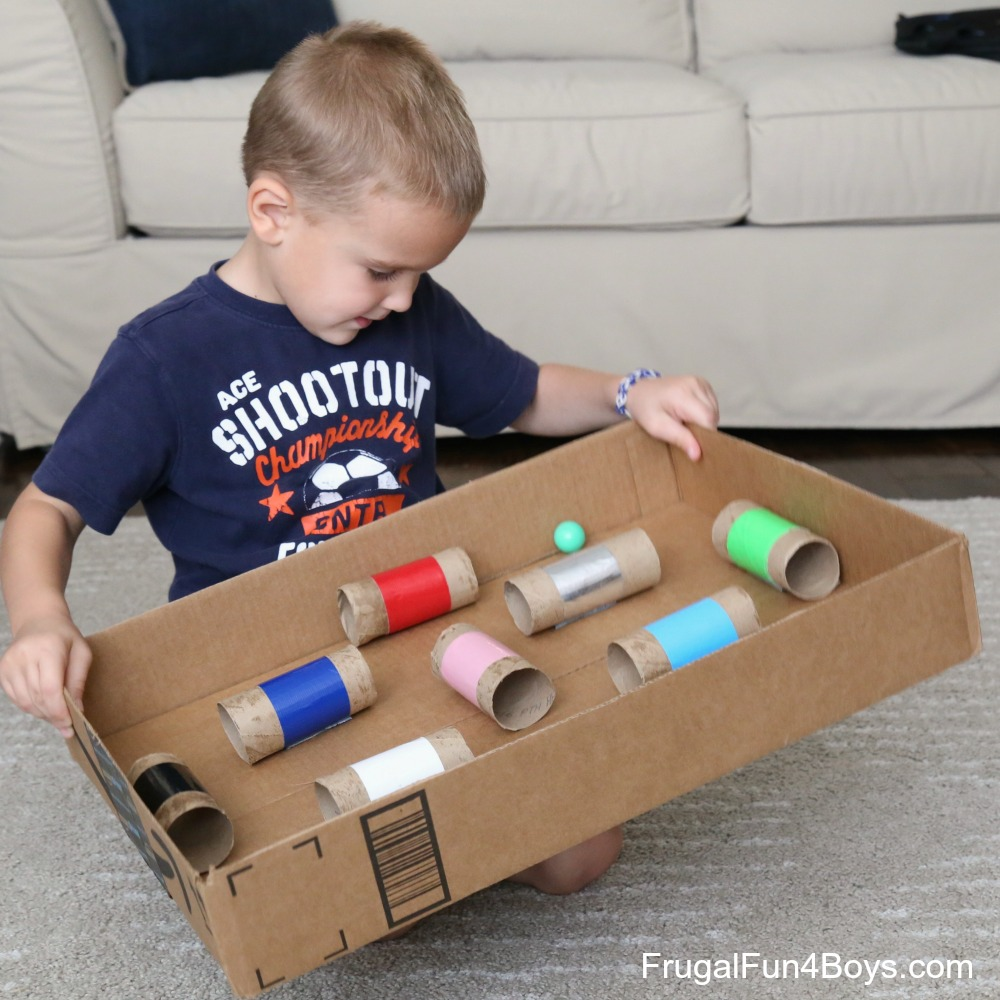 Make a Ball Maze Game - Great for hand-eye coordination!