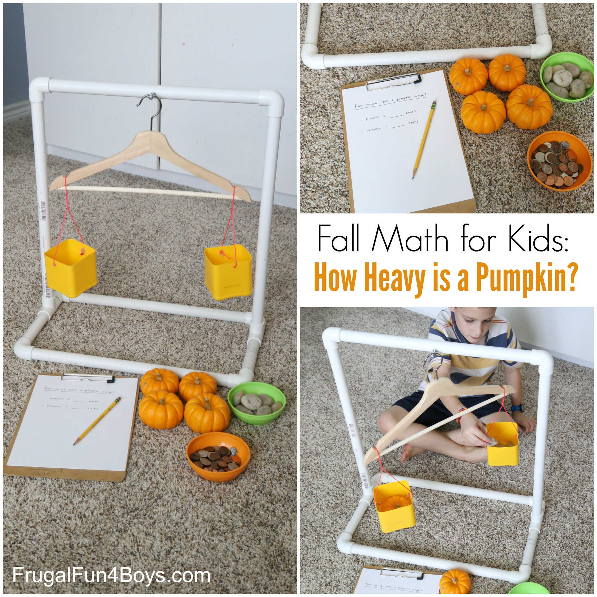 Fall Math for Kids: How Heavy is a Pumpkin?