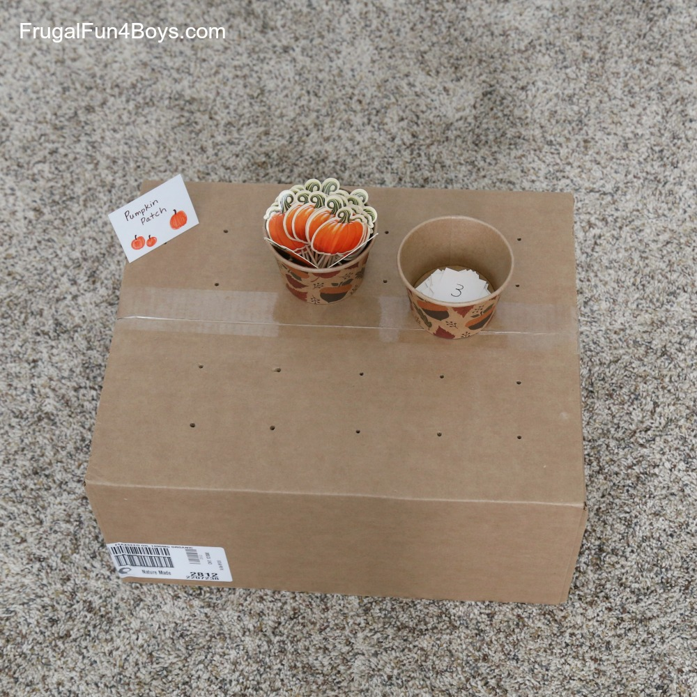 Pumpkin Patch Fine Motor Counting Game