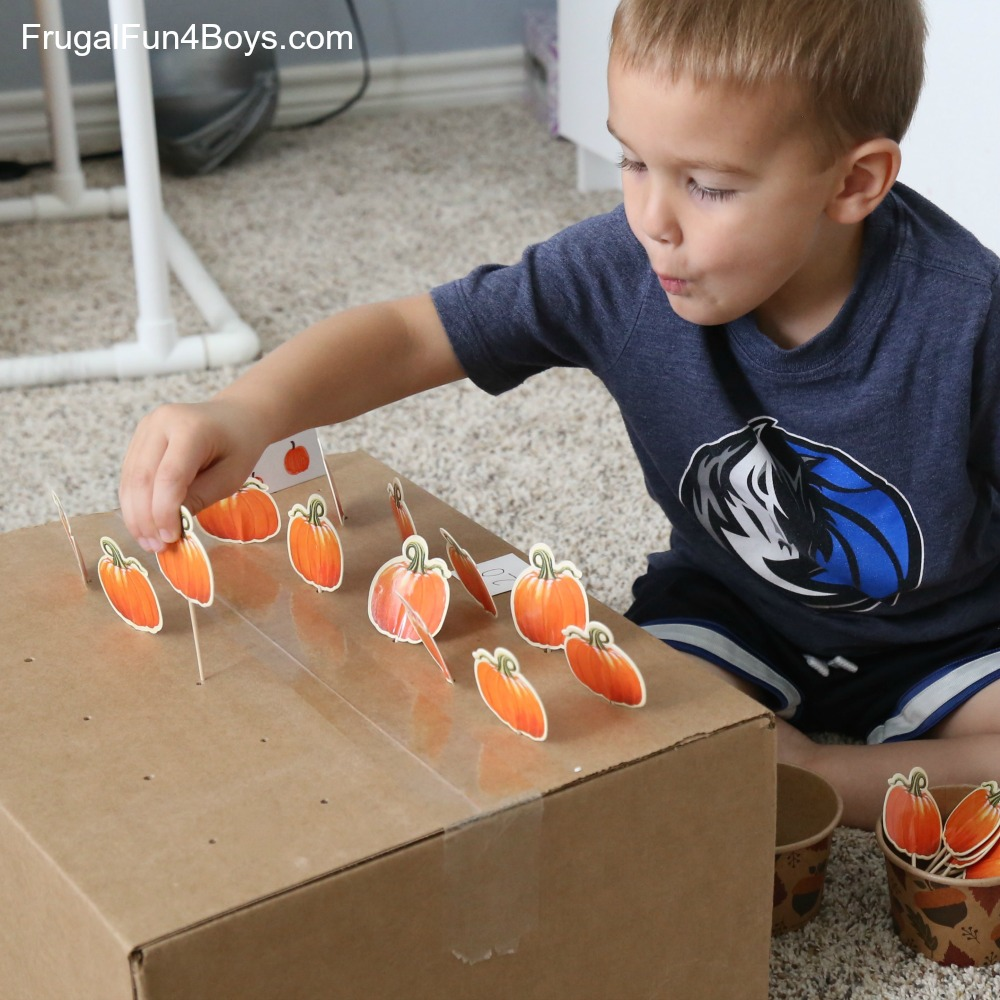 Pumpkin Patch Fine Motor & Counting Game