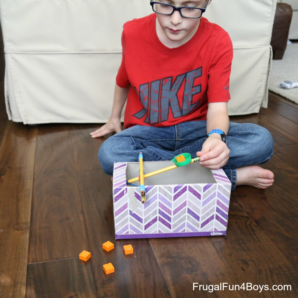 How to Build a Tissue Box Catapult