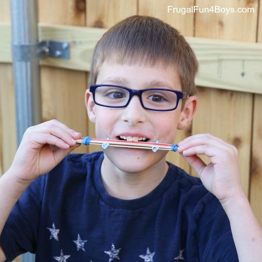 Craft Stick Harmonica