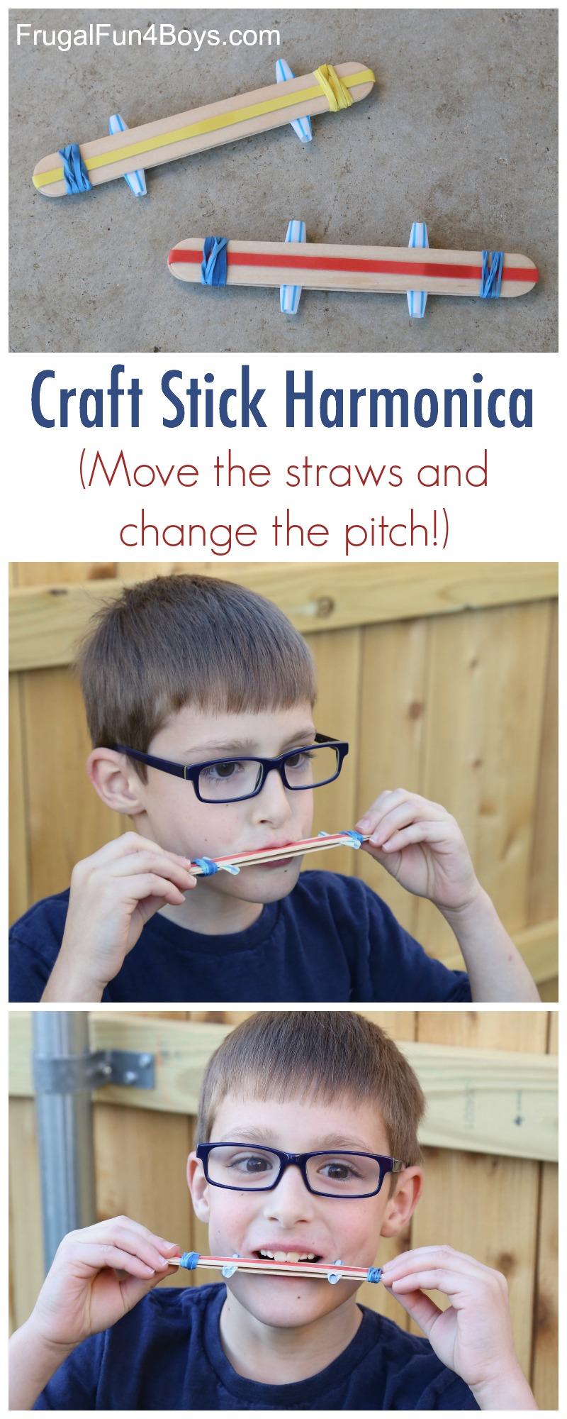 Make a Craft Stick Harmonica