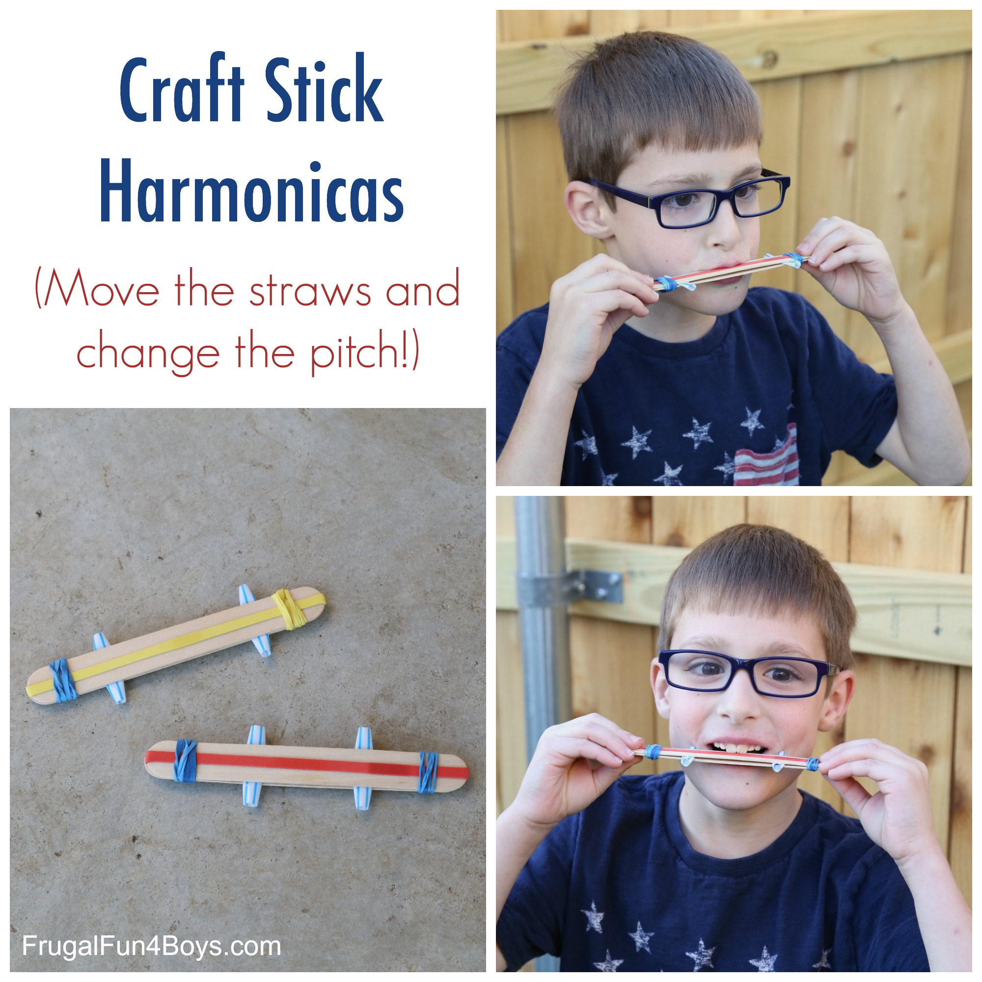 Make a Craft Stick Harmonica