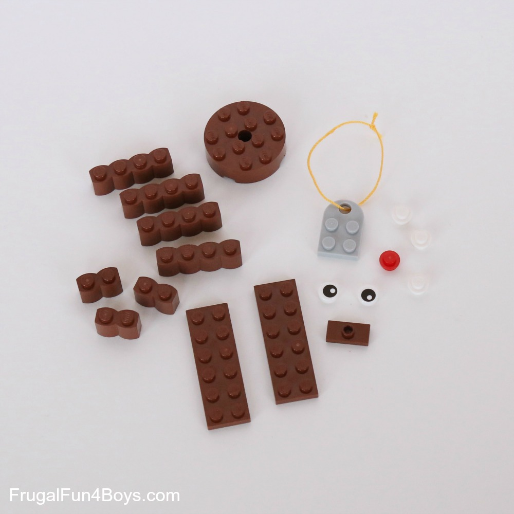 Five LEGO Christmas Ornaments with Building Instructions