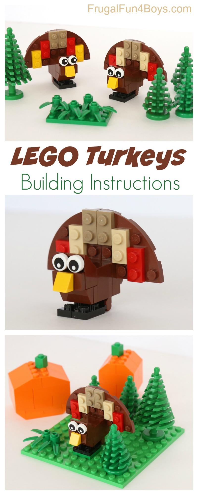 Lego Turkey Building Instructions Frugal Fun For Boys And Girls