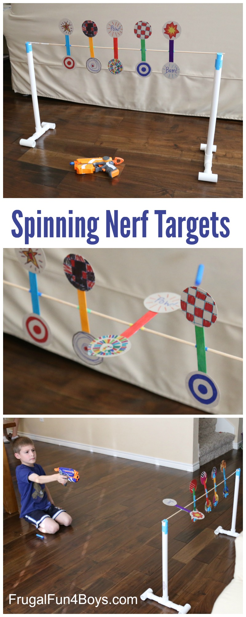 How to Make Spinning Nerf Targets