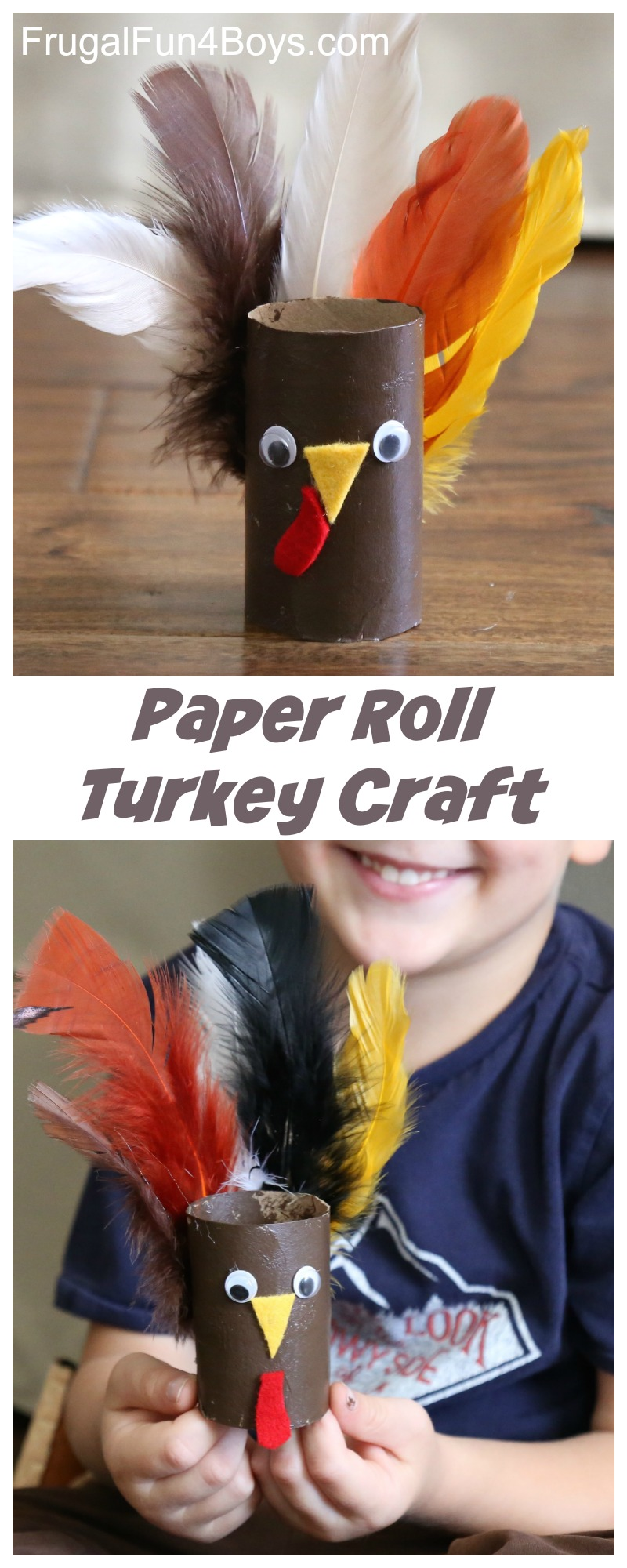 Paper Roll Turkey Craft for Kids