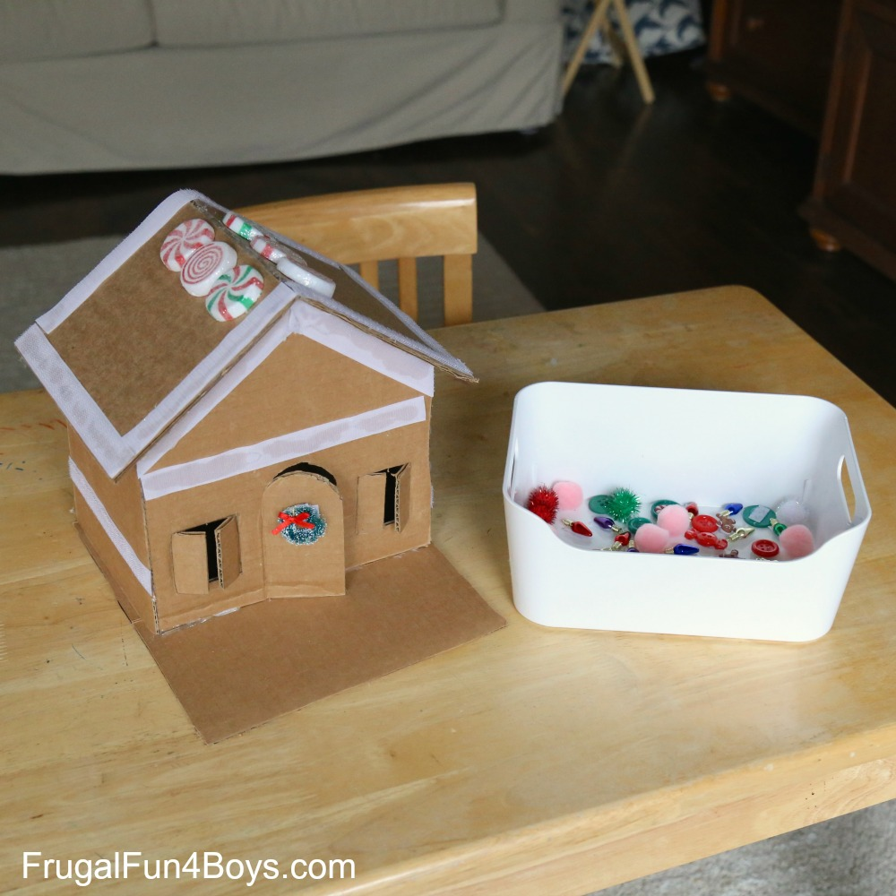 Velcro Gingerbread House - A Fun Christmas Activity!