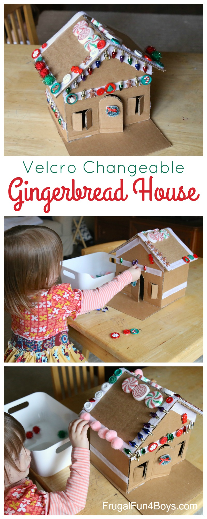 Velcro Gingerbread House Activity for Preschoolers