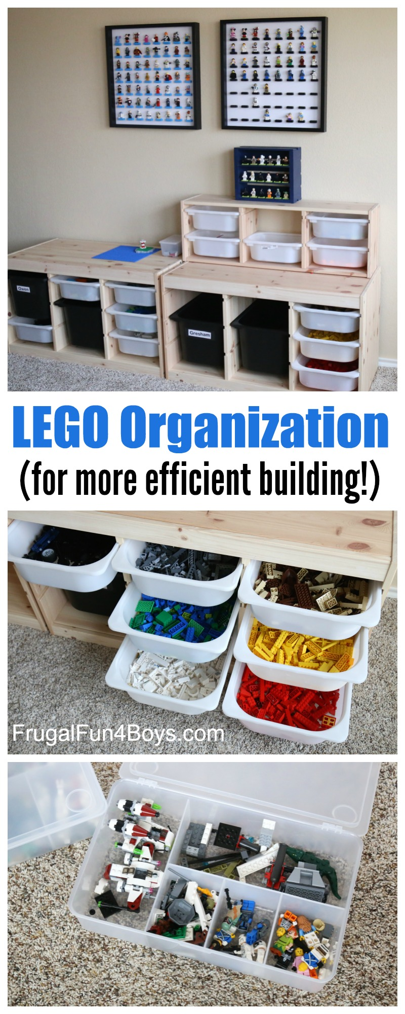 LEGO Storage and Organization for More Efficient Building