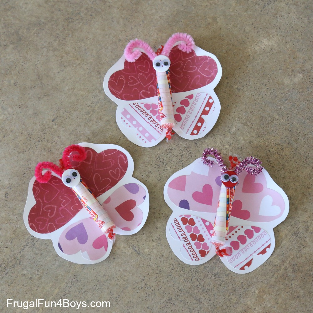 Adorable Butterfly Valentines to Make