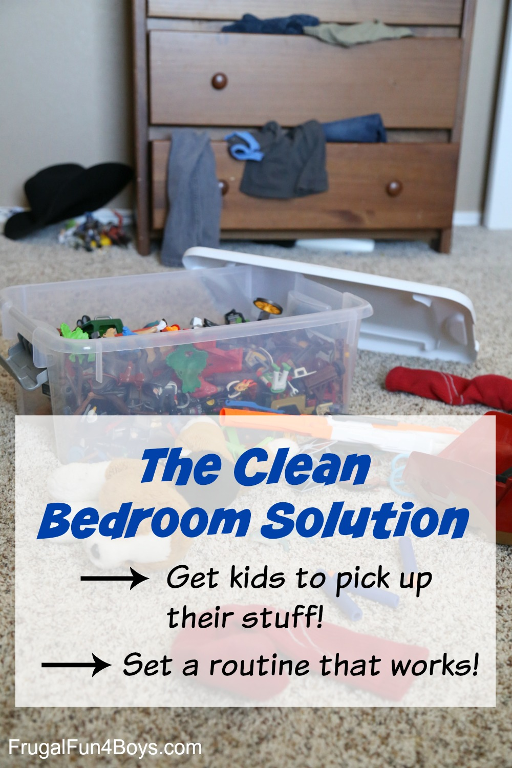 The Clean Bedroom Solution! Get kids to pick up their stuff!