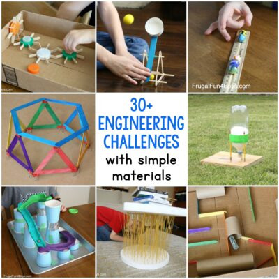 30+ Awesome STEM Challenges for Kids (with Inexpensive or Recycled Materials!)