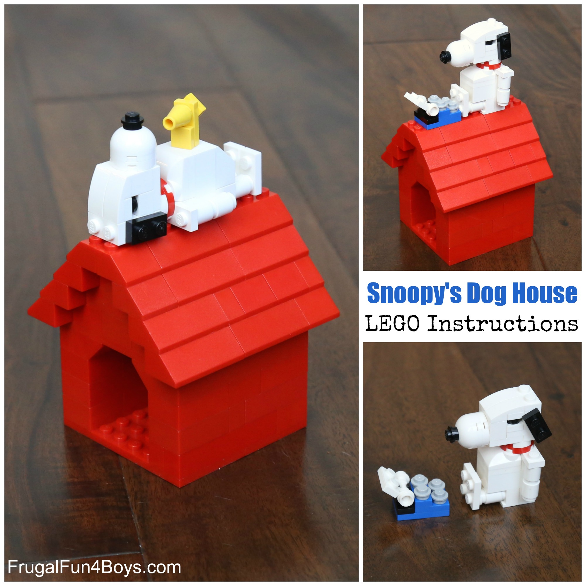 Snoopy And His Dog House Lego Building Instructions Frugal Fun For