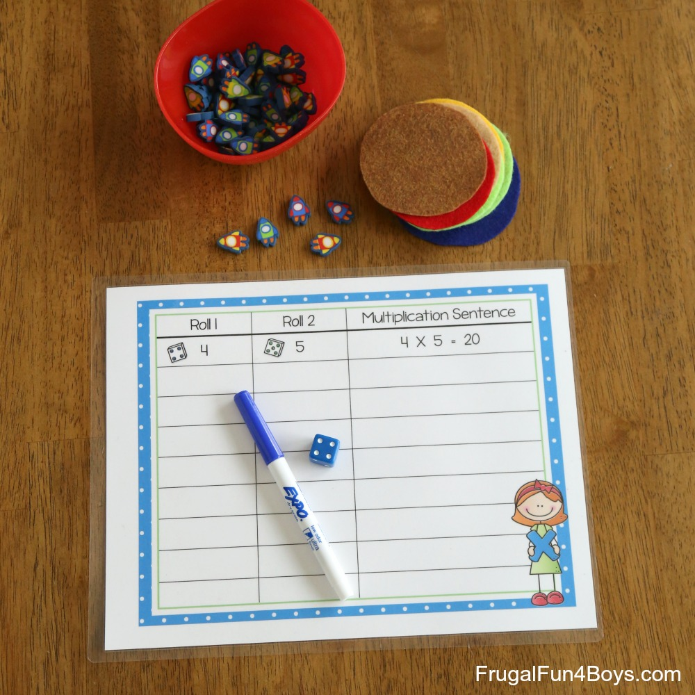 Hands-on Math with Printable Multiplication Mats