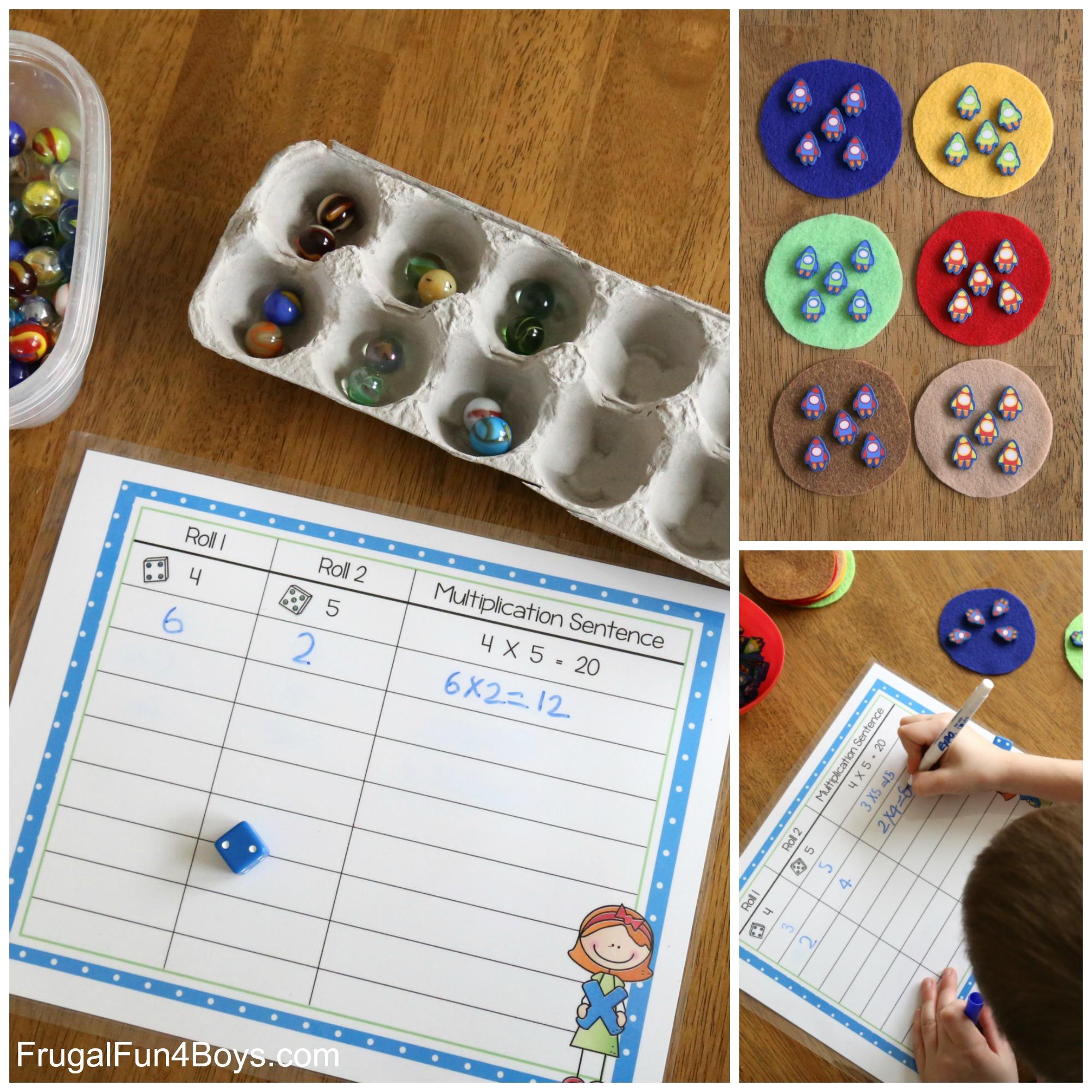 Hands-on Math!  Printable Multiplication Mats