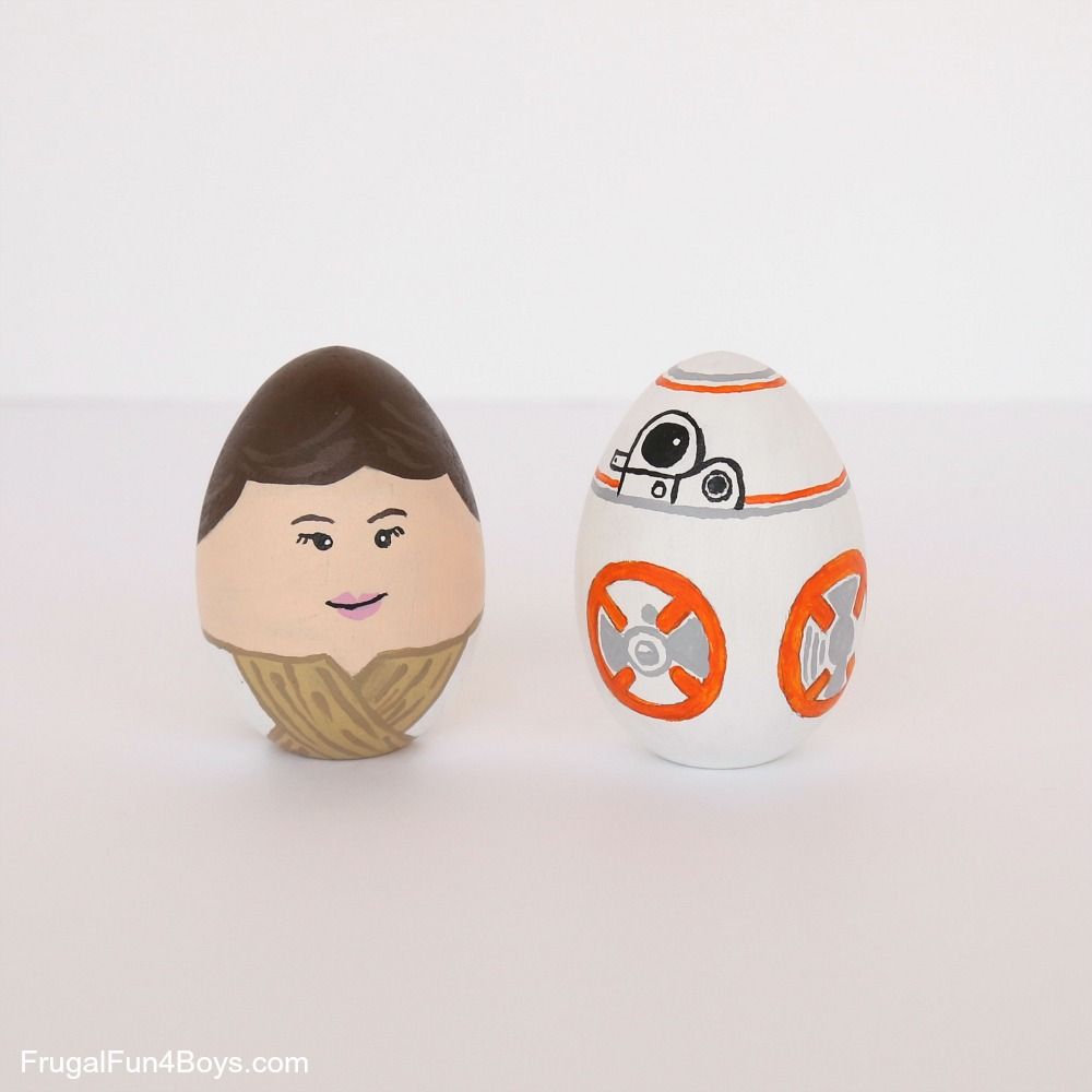 Star Wars Wooden Painted Eggs