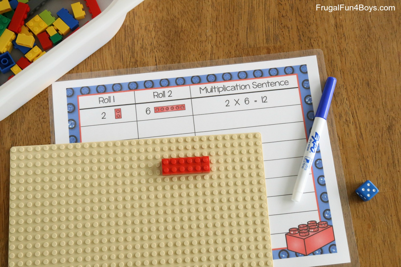 LEGO Multiplication Mats! Printable Math Activity
