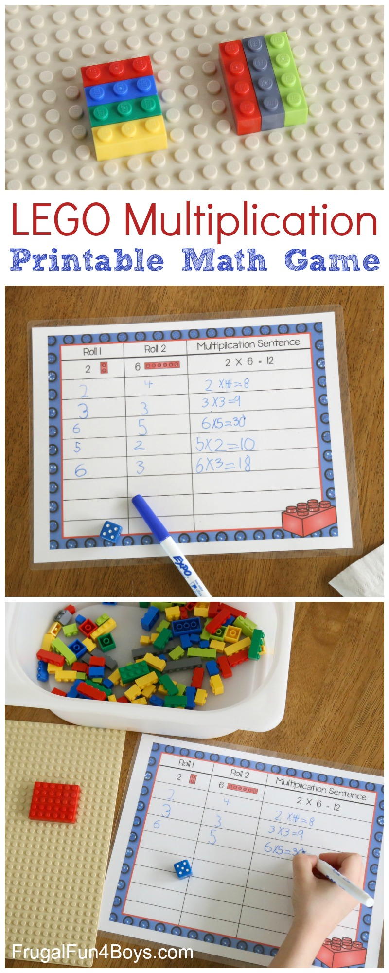 LEGO Multiplication! Printable Math Activity