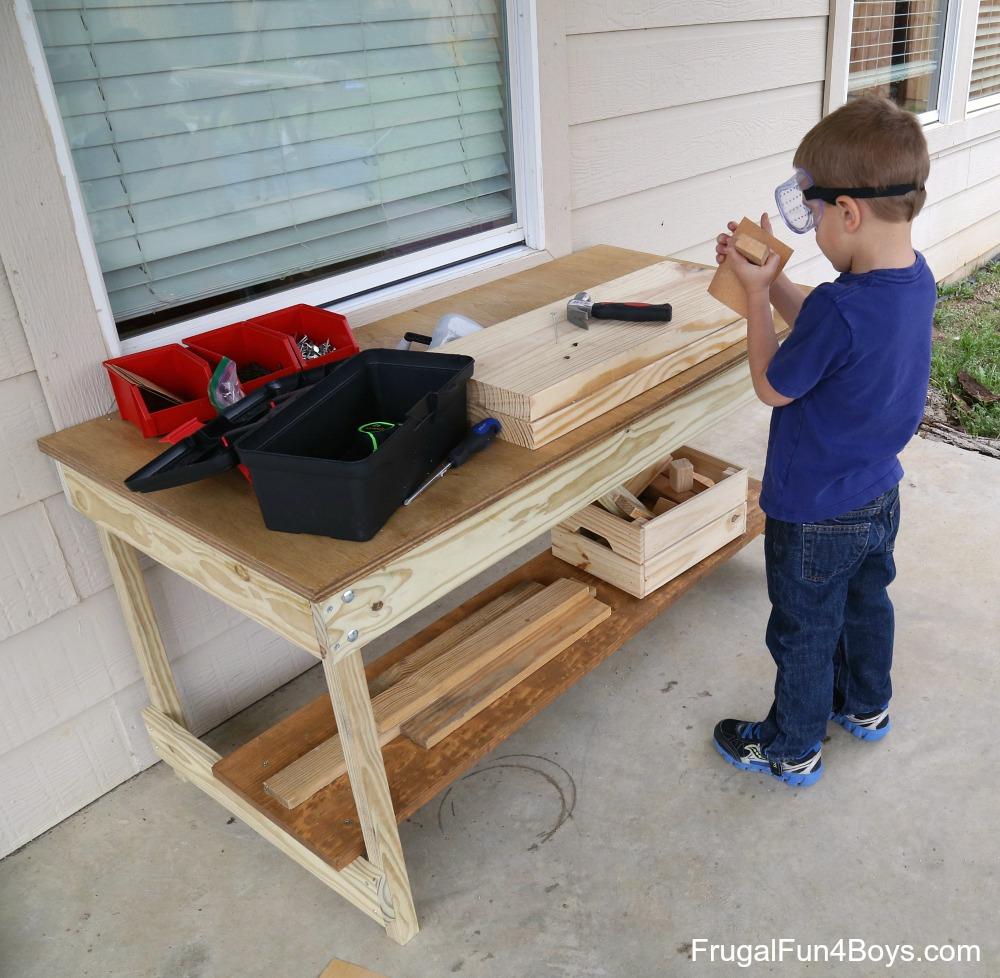 Kidsu0027 Workbench Plans