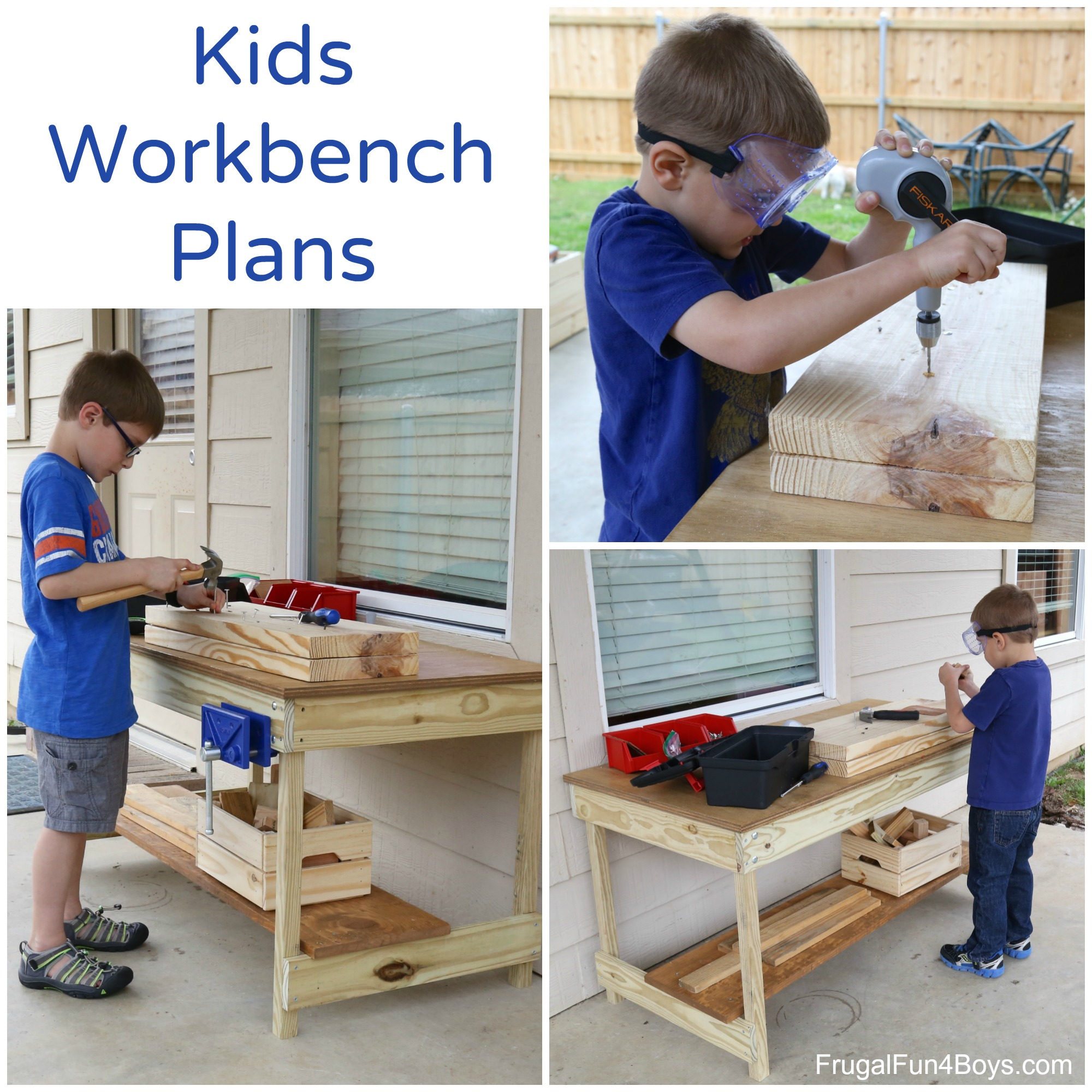 Kids Workbench Plans Woodworking For Kids Frugal Fun For Boys