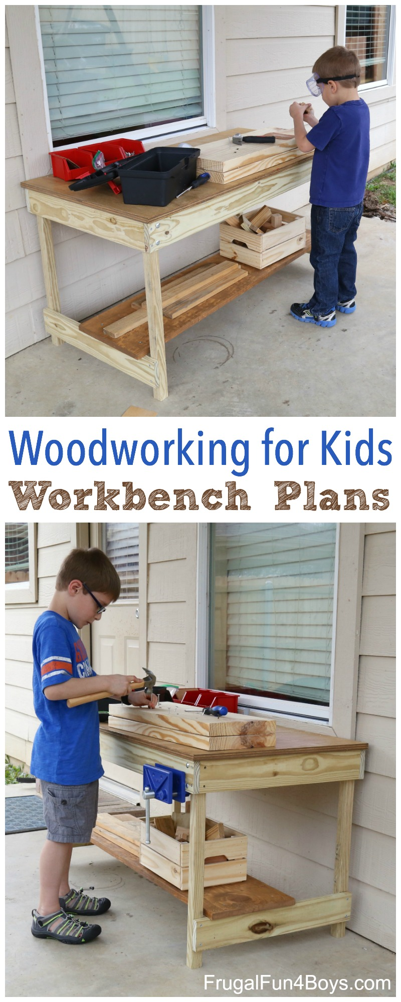 Kids Workbench Plans Build Your Own Kids Woodworking Space
