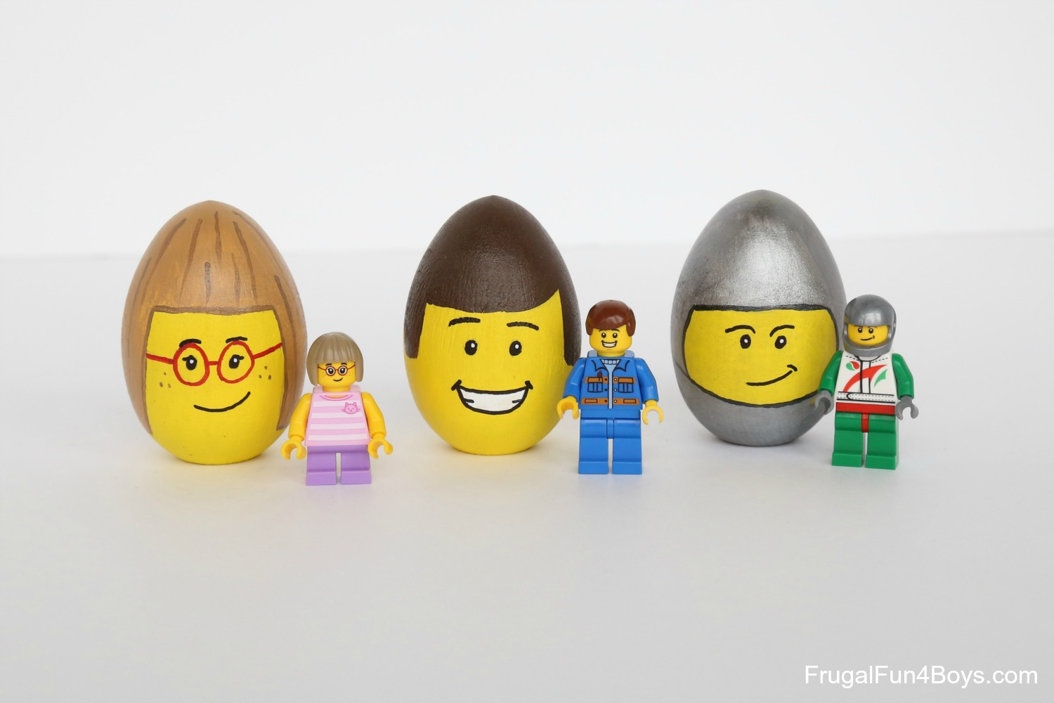 LEGO Minifigure Decorated Easter Eggs - Frugal Fun For ...
