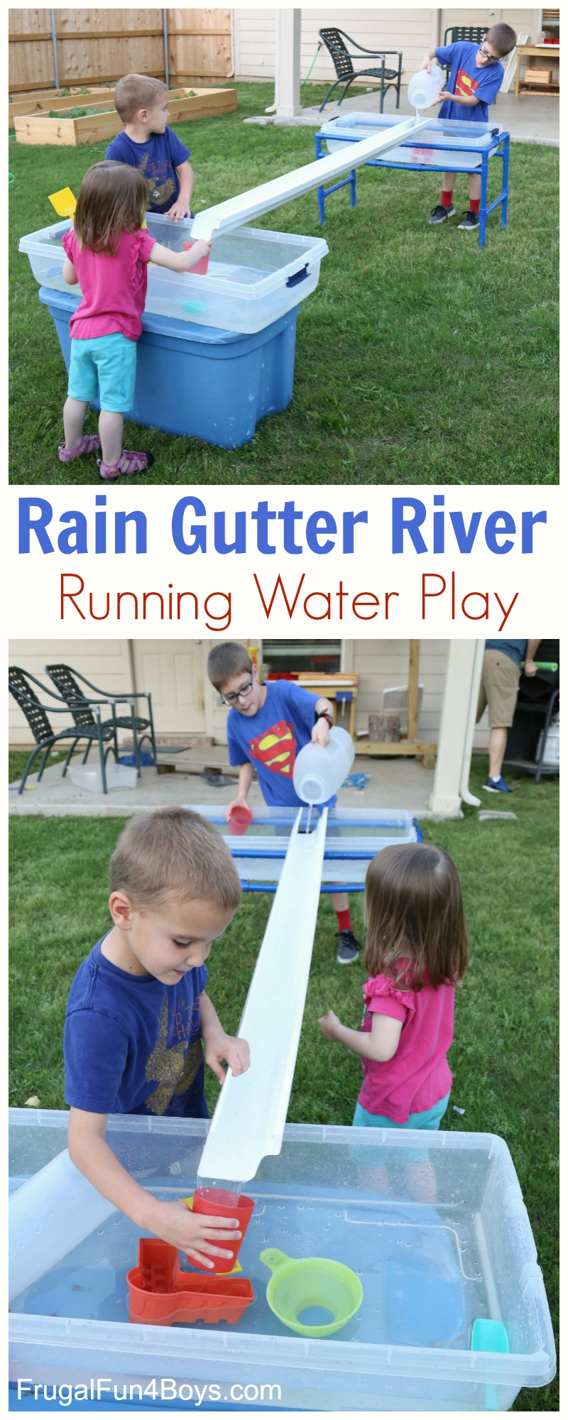 Build a Rain Gutter River - Water Play Activity for Kids