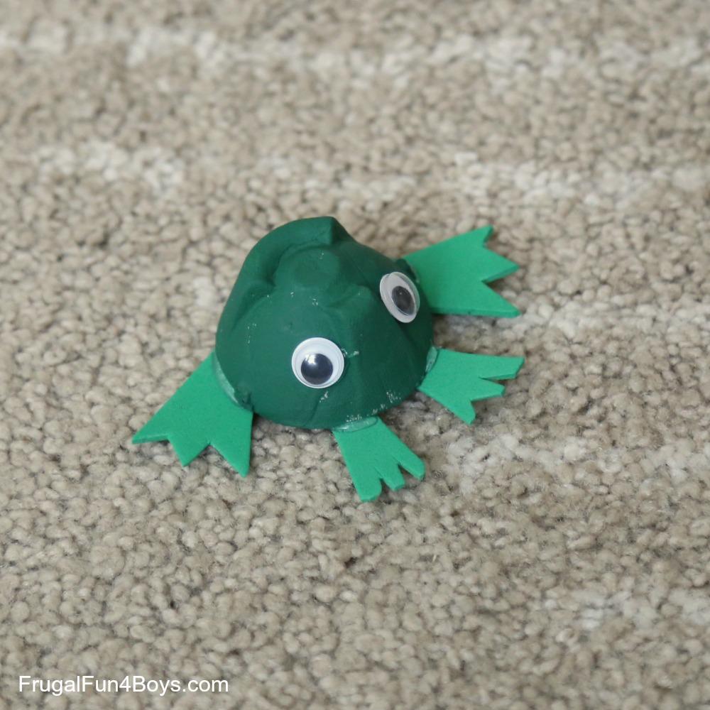 Egg Carton Frog Craft