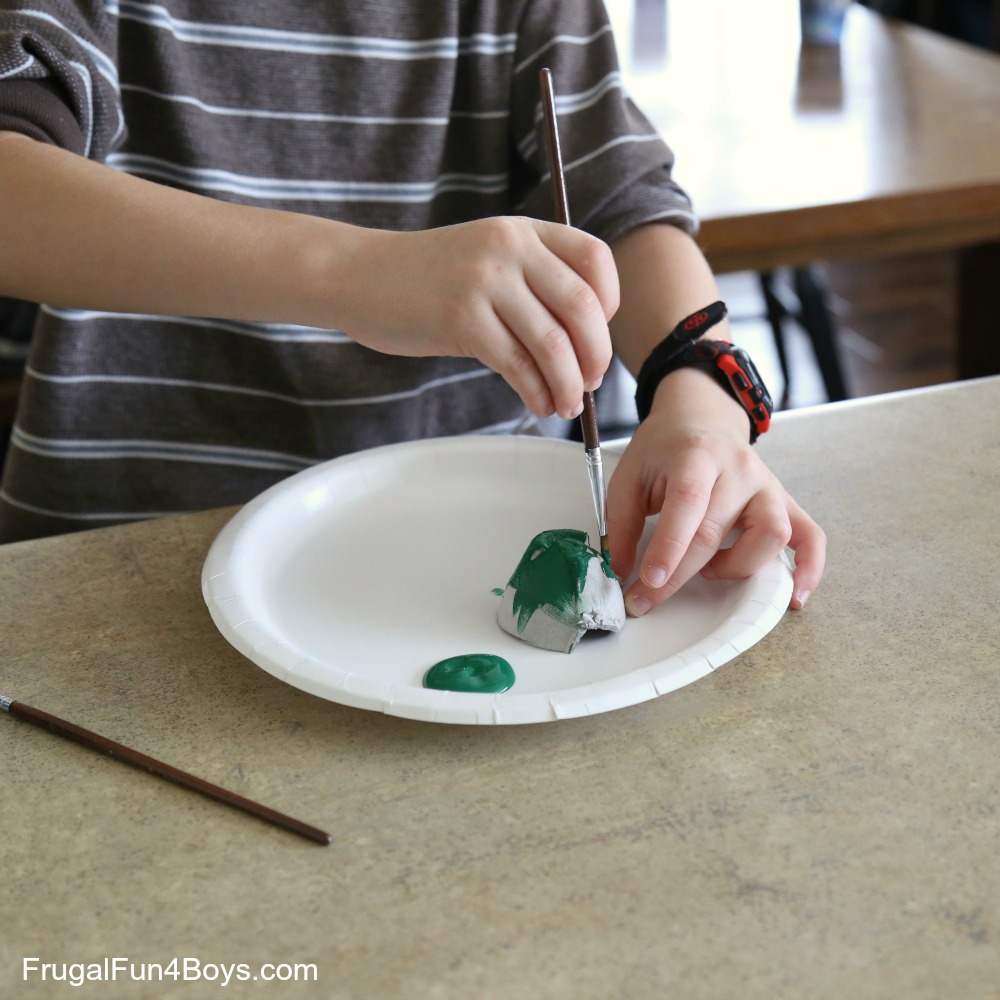 Egg Carton Turtle Craft