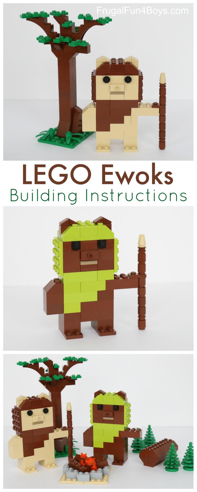 LEGO Ewoks with Building Instructions
