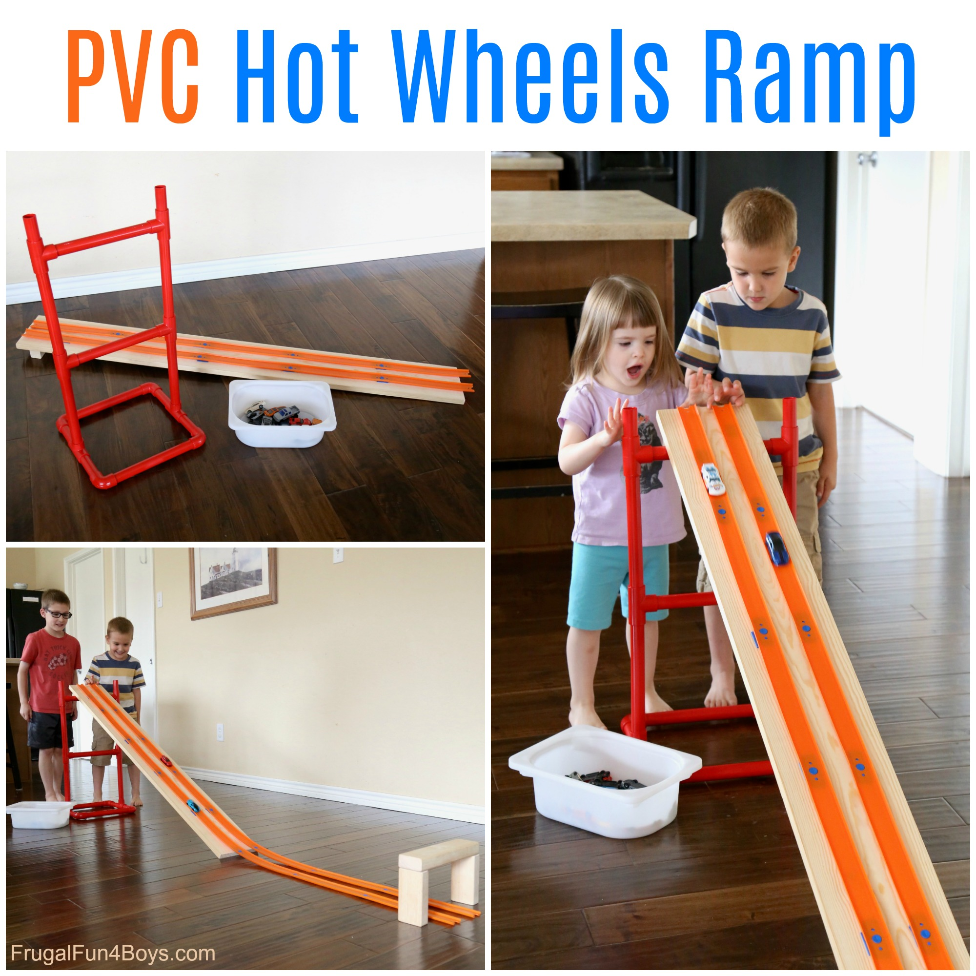How To Make A Pvc Pipe Adjustable Hot Wheels Car Ramp