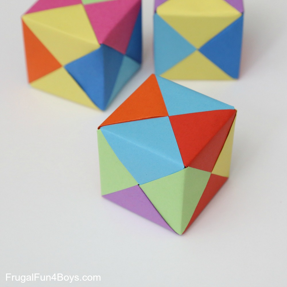 How to fold origami paper cubes note my 8 year old had a little trouble fitting his first cube together and i discovered that half of his paper sections were oriented the wrong way pronofoot35fo Image collections
