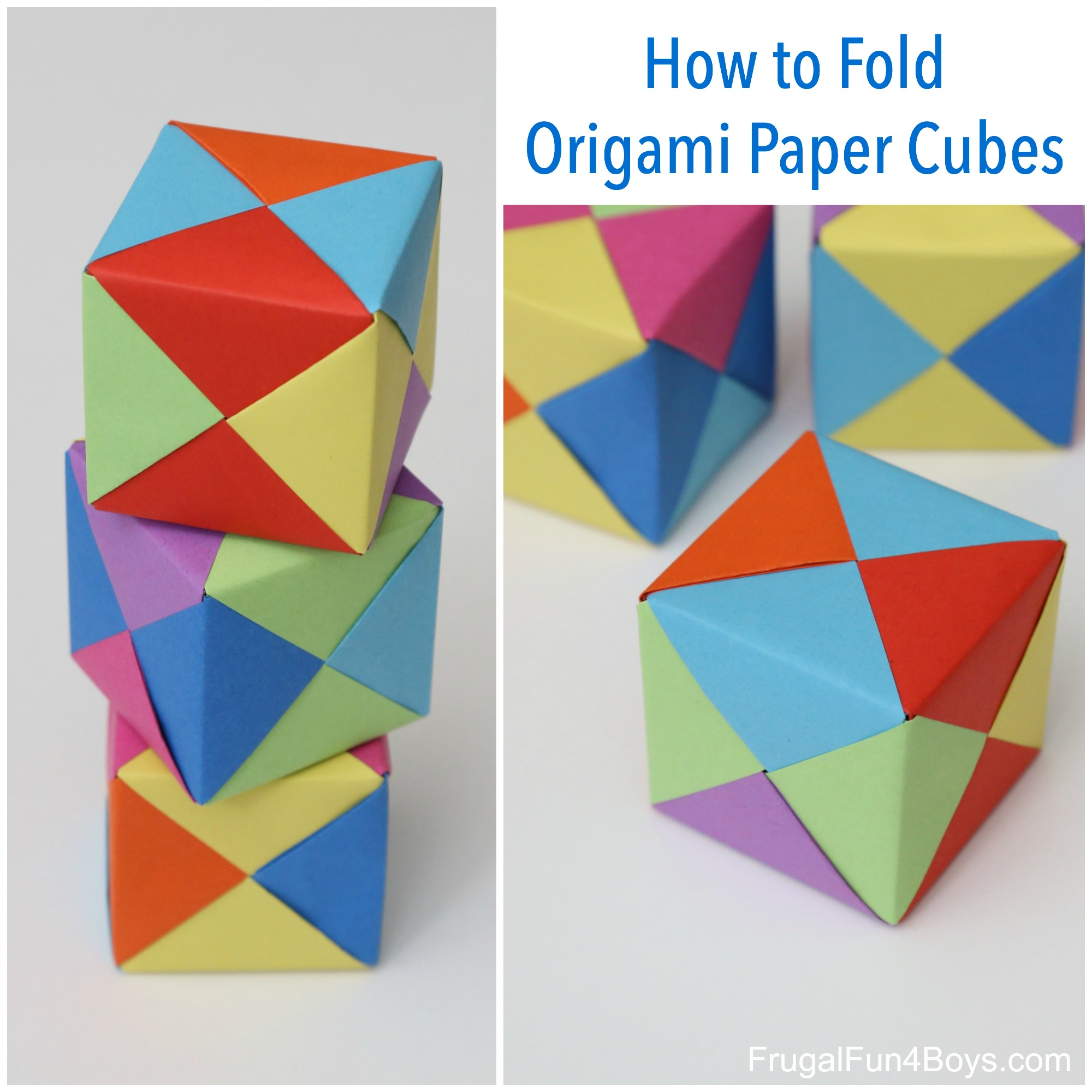 How to Fold Origami Paper Cubes - photo#15