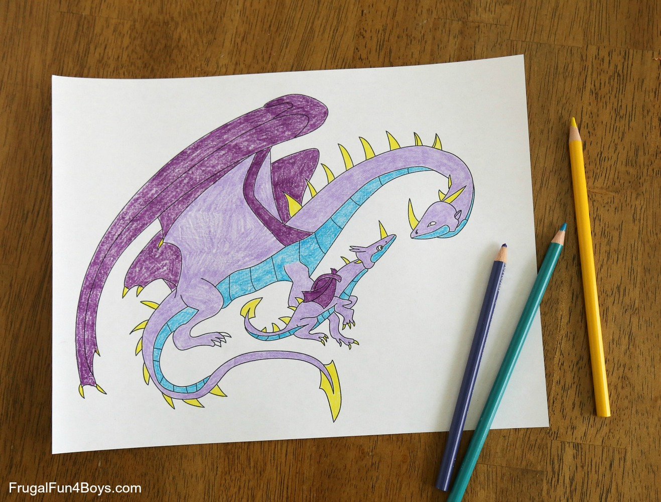 Coloring Pages For Dragons : Awesome dragon coloring pages to print