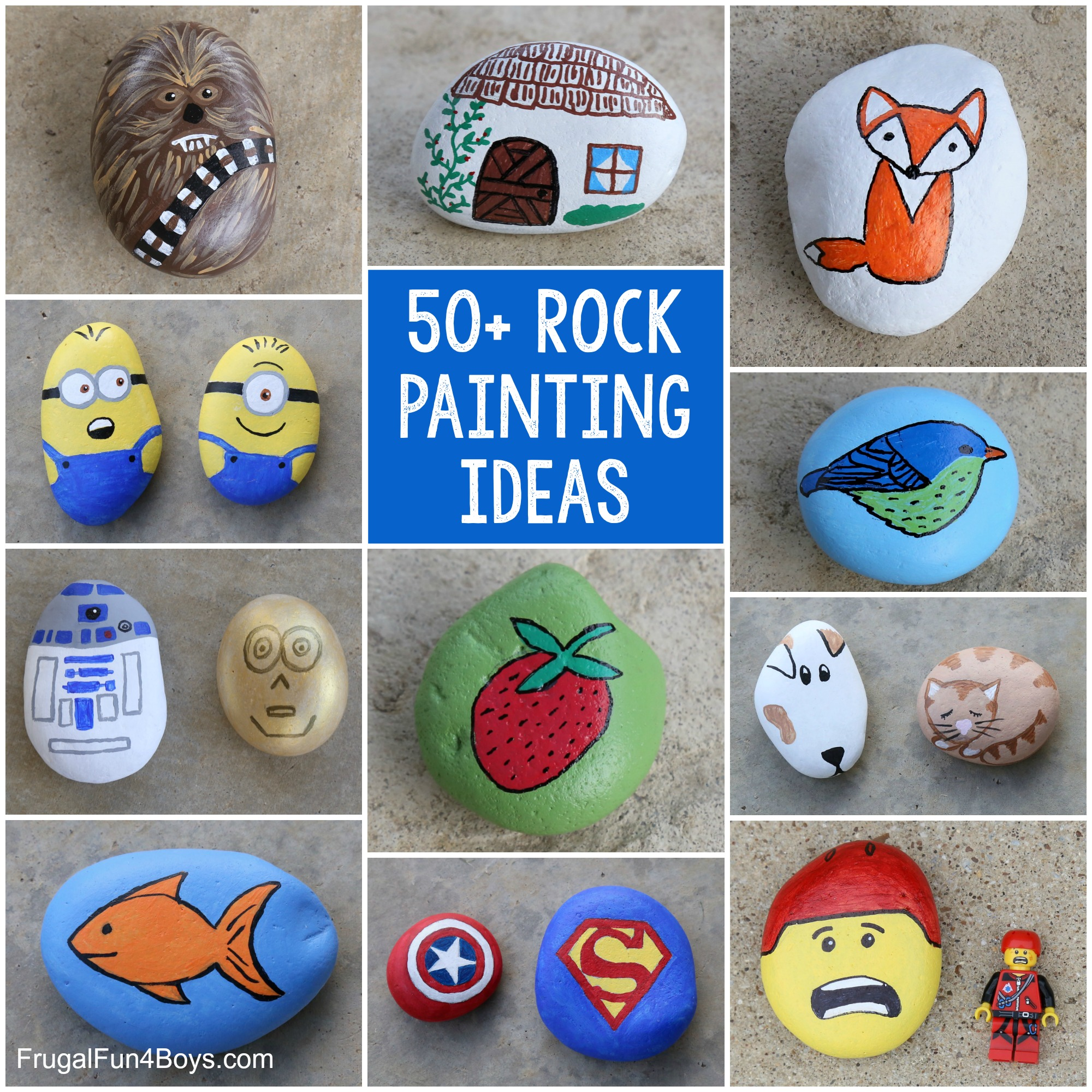 Rock Painting Ideas for Kids