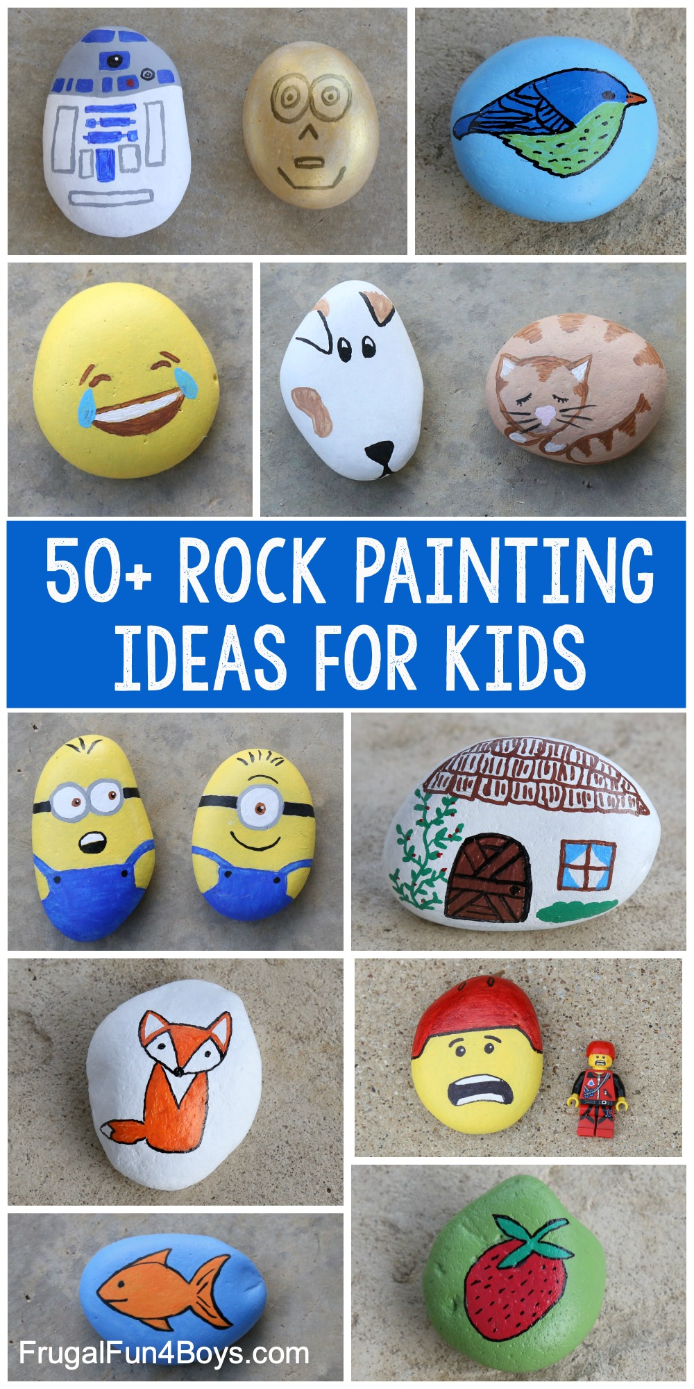50+ Rock Painting Ideas for Kids